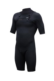 ZION WETSUITS Vault 2/2mm Chest Zip Sealed Springsuit - Black - Summer 2016/17 Range