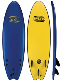 RYDER SOFT SURFBOARD Thruster Fish Series - 6'0