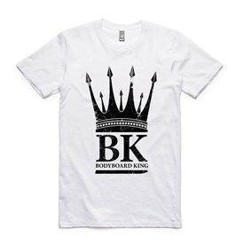 Bodyboard King Crown T Shirt  - White