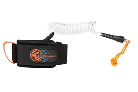 CREATURES OF LEISURE Deluxe Coiled Wrist Leash - Clear / Black