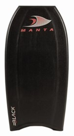 MANTA BODYBOARDS Black Thermo Flex Core (TFC) - 2014/15 Model