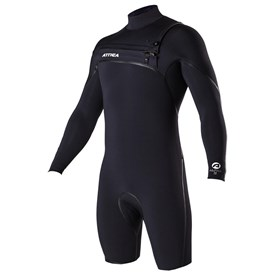 ATTICA Wetsuits - Alpha Liquid Sealed GBS 2/2mm Long Sleeve Springsuit - Black/ White - 2017/18 Summer Range