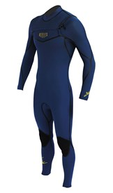 REEFLEX WETSUITS Jerry Series 4/3mm GBS Chest Zip Steamer - Iodine Blue