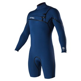 ATTICA Wetsuits - Alpha Liquid Sealed GBS 2/2mm Long Sleeve Springsuit - Iodine Blue - 2017/18 Summer Range