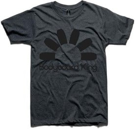 Bodyboard King Logo T Shirt  - Charcoal / Black Logo