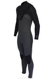 REEFLEX WETSUITS JUPITER 4/3mm CHEST ZIP STEAMER - Shadow 3