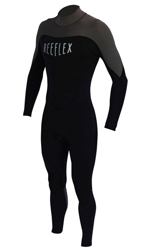 REEFLEX WETSUITS Junior Backzip 3/2mm Steamer - Black/ Charcoal