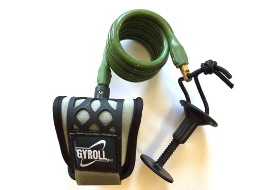 GYROLL Wrist Leash Military Coil/ Black Cuff