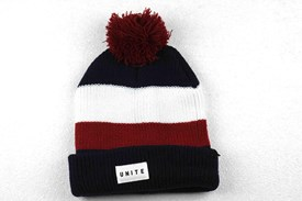 UNITE Supporter Beanie - Black/ Red/ White/ Blue