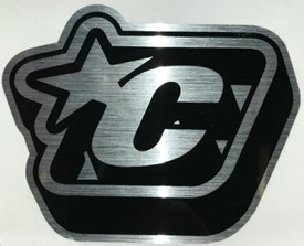 Creatures of Leisure - Reflective Icon Sticker - Black/Silver