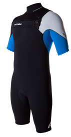 ATTICA WETSUITS ALPHA GBS 2/2mm SPRINGSUIT - Black/Blue/White - 2013/14 Summer