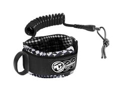 CREATURES OF LEISURE Ryan Hardy Bicep Leash - Black/Black (White Chequer Cuff)