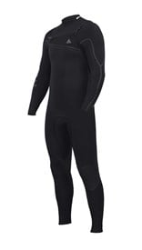 ZION WETSUITS Yeti 3/2mm Liquid S-Sealed Chest Zip Steamer - Black - Winter 2017 Range