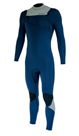 REEFLEX WETSUITS Moz Cypress 4/3mm Chest Zip Sealed GBS Steamer - Navy/ White - Winter 2018 Range