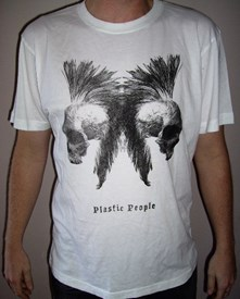 PLASTIC PEOPLE Sioux Skull T Shirt - White