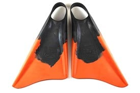 HB BODYBOARDS FREE II FIN'S - Black/ Orange