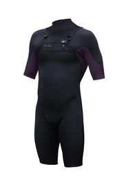 ZION WETSUITS Vault 2/2mm Chest Zip GBS Springsuit - Black/ Plum - Summer 2017/18 Range