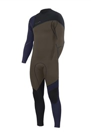 ZION WETSUITS Cortez 4/3mm Liquid S-Sealed Zipperless Steamer - Biege/ Black/ Navy - Winter 2018 Range