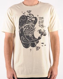 GRAND FLAVOUR Dog Eat Dog T Shirt - Organic Off White