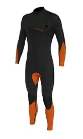 REEFLEX WETSUITS Gen X 4/3mm GBS Zipperless Sealed Steamer - Graphite/ Orange - 2016/17 Summer Range
