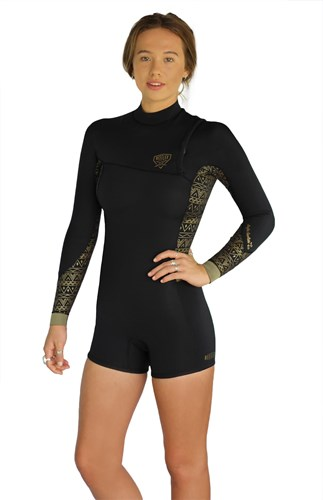 REEFLEX WETSUITS Freerider Ladies 2/2mm Zipperless Long Sleeve Springsuit - Winter 2017 Range