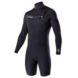 ATTICA Wetsuits - Omega GBS 2/2mm Long Sleeve Springsuit - Iodine/ Black/ White - 2017/18 Summer Range