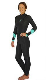 REEFLEX WETSUITS Ember Ladies 3/2mm Zipperless Steamer - Graphite/ Pistachio - Winter 2017 Range