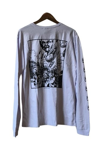 ZION WETSUITS Chicken Apocalypse Long Sleeve T Shirt - White