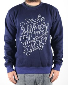 GRAND FLAVOUR You've Got Great Taste Crew Neck - Navy