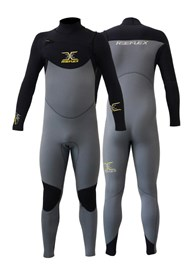REEFLEX WETSUITS JUPITER 3/2mm Eclipse CHEST ZIP STEAMER - Black/Graphite