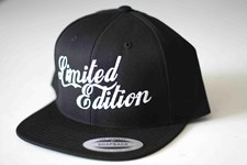 LIMITED EDITION Logo Snap Back Hat - Black/ White Logo