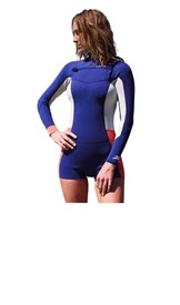 REEFLEX WETSUITS Rio Ladies 2/2mm Long Sleeve Chest Zip Springsuit