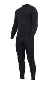 ZION WETSUITS Cortez 3/2mm Liquid S-Sealed Zipperless Steamer - Black - 2nd Winter 2015 Range