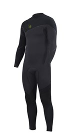 ZION WETSUITS Yeti 4/3mm Liquid S-Sealed Zipperless Steamer - Graphite/ Black - Winter 2016 Range