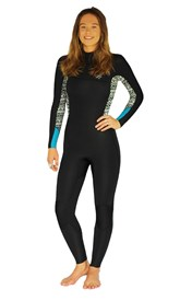 REEFLEX WETSUITS Freerider Ladies 3/2mm Zipperless Steamer - Black/ White Print - Winter 2017 Range