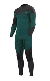 ZION WETSUITS Cortez 3/2mm Liquid S-Sealed Zipperless Steamer - Forest/ Graphite - 2nd Winter 2015 Range
