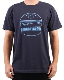 GRAND FLAVOUR Burger T Shirt - Navy