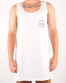 GRAND FLAVOUR I Love Burgers Tank T Shirt - White