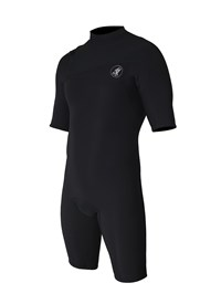 ZION WETSUITS Cortez 2/2mm Zipperless Springsuit - Black - Summer 2015/16 Range