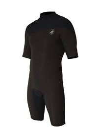 ZION WETSUITS Cortez 2/2mm Zipperless Springsuit - Chocolate/ Black - Summer 2015/16 Range