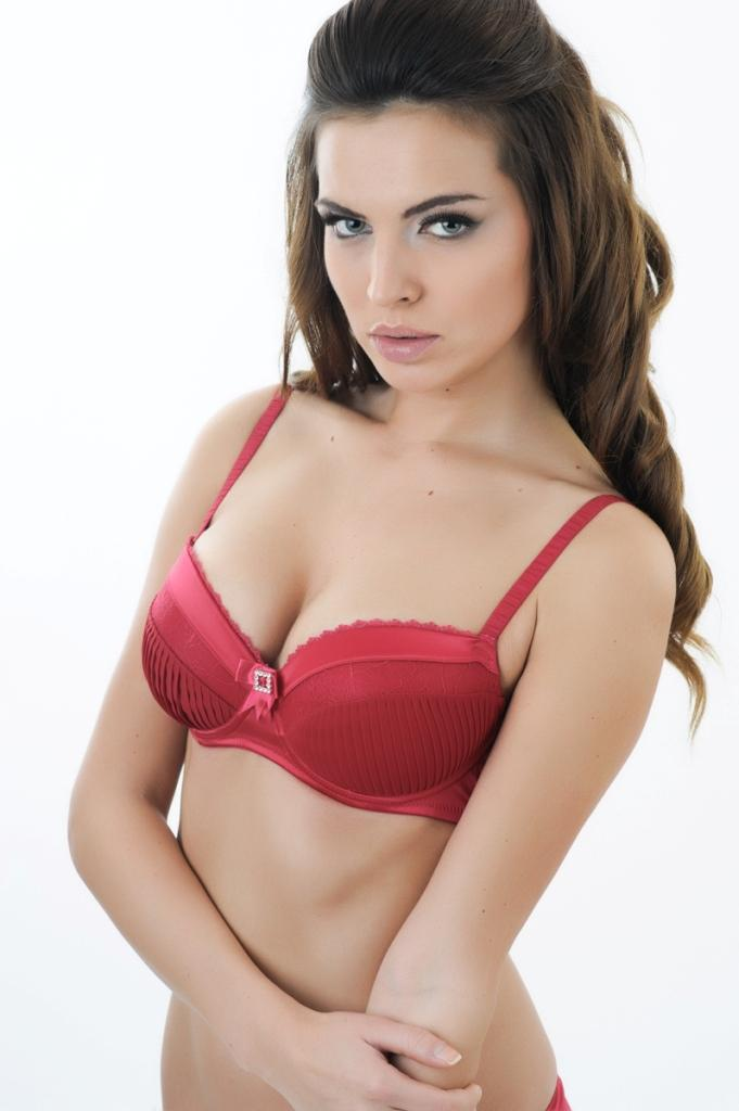 3dede0b901e77 The Blonde Private Party Balconnet Super Push up Bra - Ruby Red