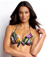Isola by Megan Gale Palma Fixed Moulded Cup Tri Bikini Top Swimwear