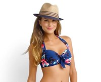 Seafolly Vintage Vacation Soft Cup Halter Bikini Top Swimwear
