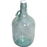 Demijohn, 5L (1 Gallon) with clip seal