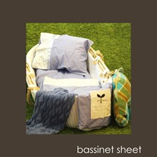 Just Sprouted -Bassinet Sheet -Blue Turtles