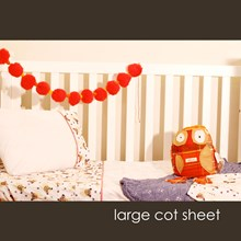 Just Sprouted - Large Cot Sheet -Dogs