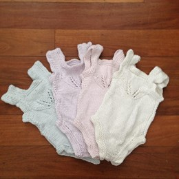 Heritage Handknitted Bamboo and Cotton Onesie - Various Colours - Copy