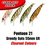 Pontoon 21 Greedy Guts 55mm SR (CLEAR OUT)
