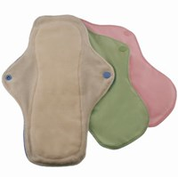Pink Daisy Menstrual Pads - Organic Cotton 3 Packs