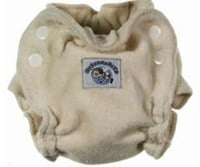 Blueberry Newborn Organic Cotton Fitted Nappy